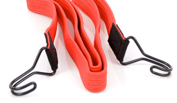 Red bungee strap with hooks