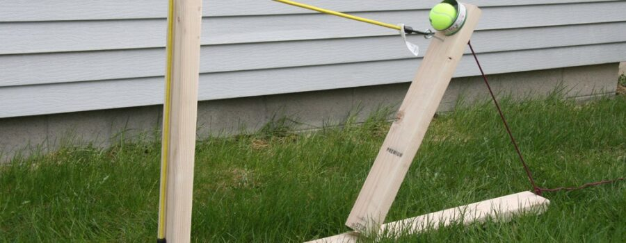 Catapult with bungee cord